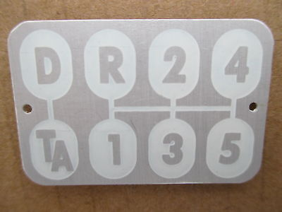 Shift Pattern Plate For Ih International 340 460 504 560 606 660 Farmall