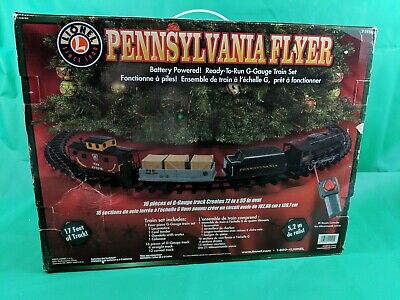 Pennsylvania Flyer Train Set Christmas Original Box 7-11140 - 16 Pieces - Remote