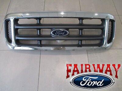 99 thru 04 Super Duty F250 F350 F450 F550 OEM Genuine Ford Chrome Grille Grill