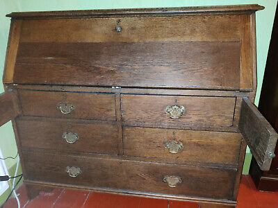 Vintage Bureau Oak - Georgian Style, Substantial and Shabby (Oxford)