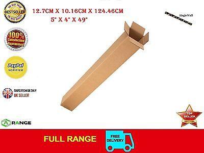 "50 Long Tall Golf Club cardboard Packaging box boxes Single Wall 5"" x 4"" x 49"""