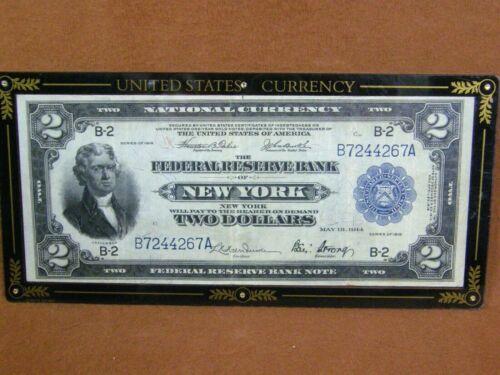 "1918 $2 Federal Reserve Bank Note New York - ""Battleship"" FR-751"