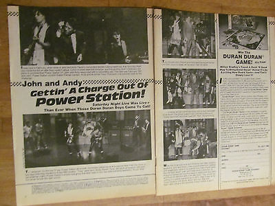 Duran Duran, Power Station, John Taylor, Two Page Vintage Clipping
