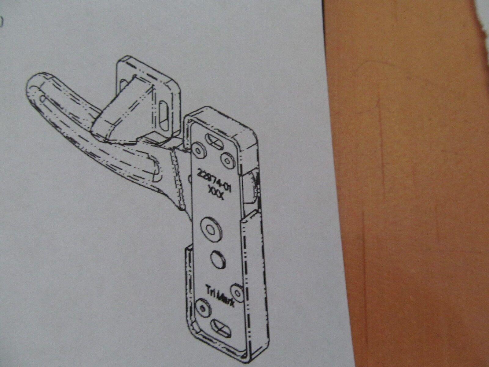 4 Of 6 TriMark Screen Door Latch Strike Plate Right Hand Sturdy Metal RV  Motorhome