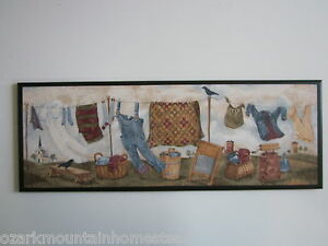 country clothesline wall decor plaque primitive sign