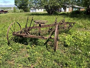 Antique Horse Drawn Side discharge rake