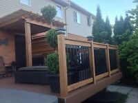 CUSTOM BUILT DECKS FENCES PERGOLAS