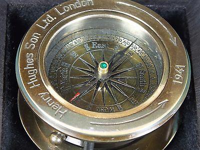 Kompass Schiffskompass Henry Hughes Son. Ltd. London Messing Navigation Replik
