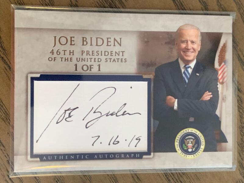 Joe Biden Custom Cut Auto Trading Card President Autograph Signed