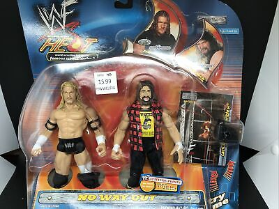 NEW WWF WWE Famous Scenes Jakks Series 2 No Way Out Triple H Cactus Jack