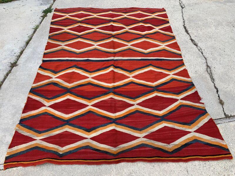 Antique Large Transitional Navajo Rug Blanket