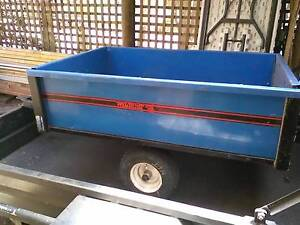 Ride on mower trailer tipper steel Golden Plains Preview