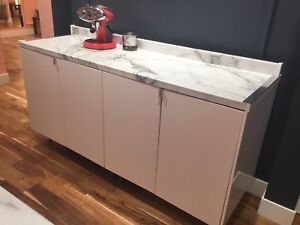 Counter melamine marble  , kitchen cabinet,storage