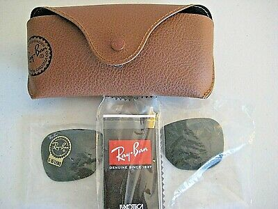 Genuine RAY BAN Green G-15 Glass Replacement Lenses by LUXOTTICA w/Case & (Luxottica Ray Ban Lenses)