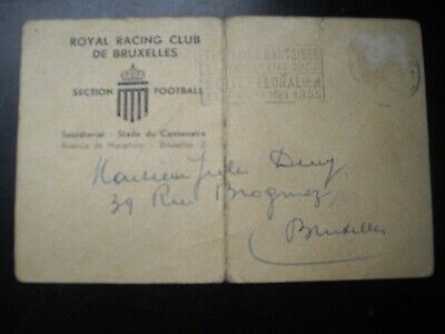 TICKET INVITATION ROYAL RACING CLUB BXL ANDERLECHT 16/01/1955 NO STANDARD BRUGGE