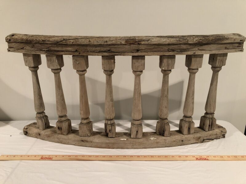 Antique Weathered Wood Arched Balusters