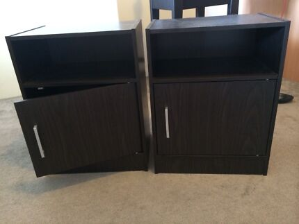 2 X bedside tables never been used dark brown/black Labrador Gold Coast City Preview
