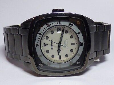 Diesel DZ1494 Men's Gunmetal Ion Plated Stainless Steel White Dial Date Watch