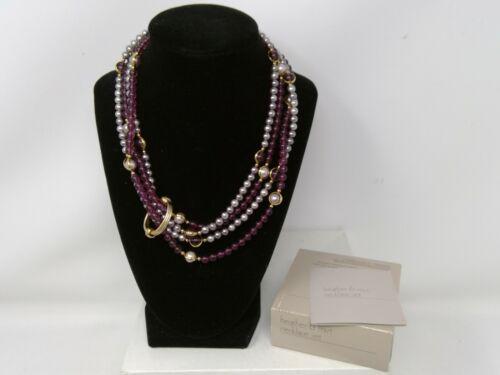 1984 Avon Heather & Mist Plastic Necklace SET