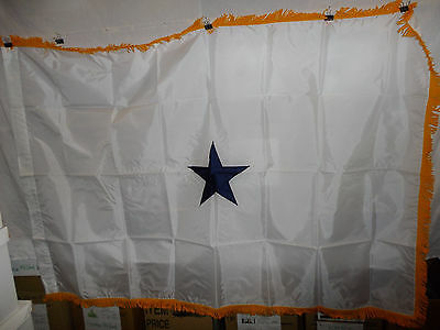 flag553 US Navy 1 Star Rear Admiral White with Gold fringe flag