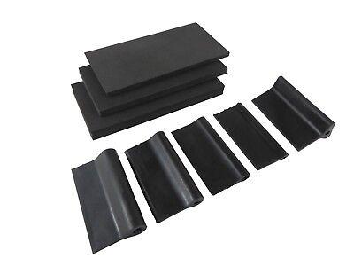 Contour Sanding Pads - Contour Hand Sanding Pads Blocks Grips 8 Piece Flexible Foam Taytools 204050