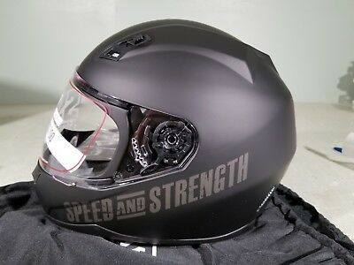 Speed And Strength Helmet SS700 Go for broke Matte black Large (Speed And Strength Ss700 Go For Broke Helmet)