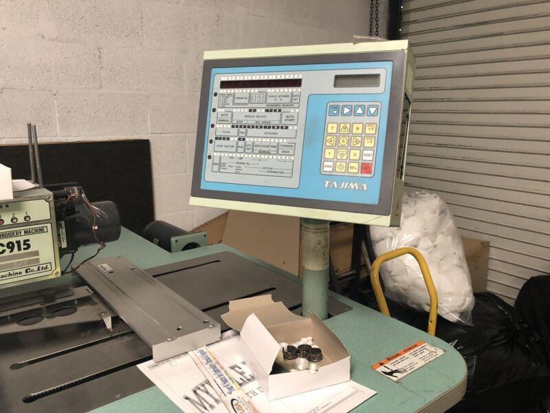 Tajima 15 STATION /9 Needle  / 9 Color  EMBROIDERY MACHINE - USED. Working