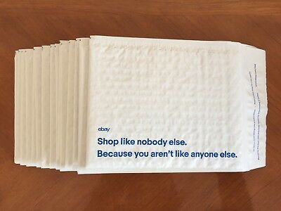 Lot 35 New Ebay Branded Padded Bubble Shipping Bags Envelopes Mailers 6.5x8.75