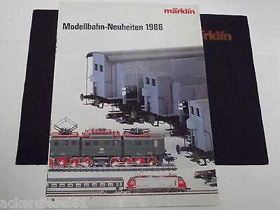 Märklin   Katalog    Neuheiten 1986   D Deutschland           (X305)