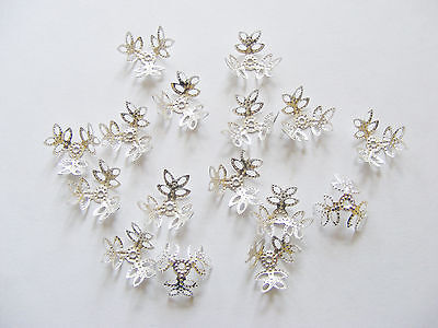 25//50//100 Tibetan Star Flower Bali Bead Caps 7mm Jewellery /& Crafts 3 colours