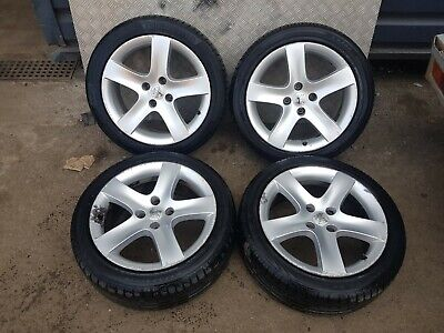 PEUGEOT 308 SET OF 4 ALLOY WHEELS & TYRES 225/45/17 1.6HDI  2007 2013