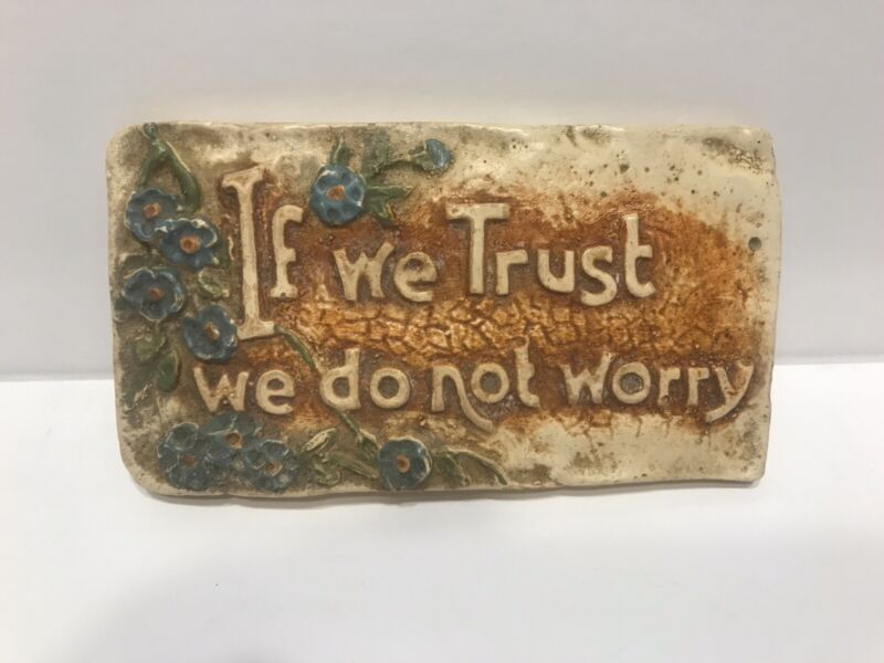 VTG  Chalkware Religious  Wall Hanging Plaque Sign