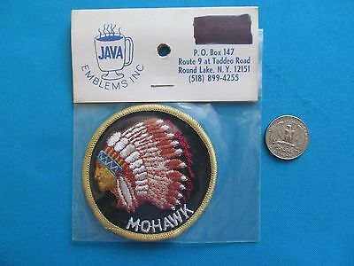 1 VINTAGE 70S INDIAN CHIEF MOHAWK TRIBE FIRST NATIONS PATCH CREST EMBLEM MIP