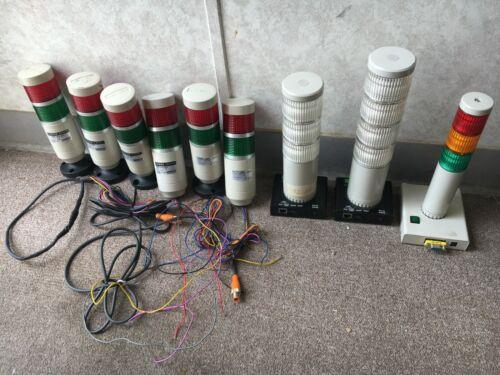 *Set of 9* MENICS & PATLITE Light/Signal Towers