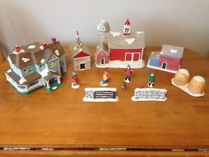 Country themed Christmas village