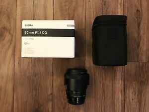 Sigma 50mm f1.4 ART lens for Canon mount