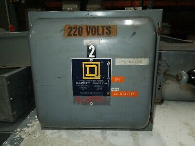 Square D 82352 A1 60a 3p 240vac Double Throw Non-fusible Manual Transfer Switch