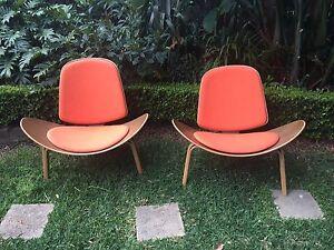 Replica Eames Hans Wagner Shell Chair x 2 Randwick Eastern Suburbs Preview