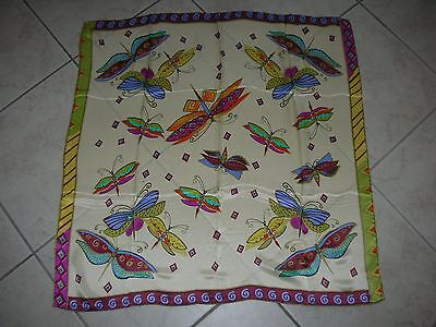 NEW 100% Pure Silk, Patterned Chinese Scarf (#121)