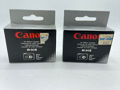Four 4ribbons 2x 2-pack Canon Ir-50 Ii Ribbon Cassette Black. Brand New