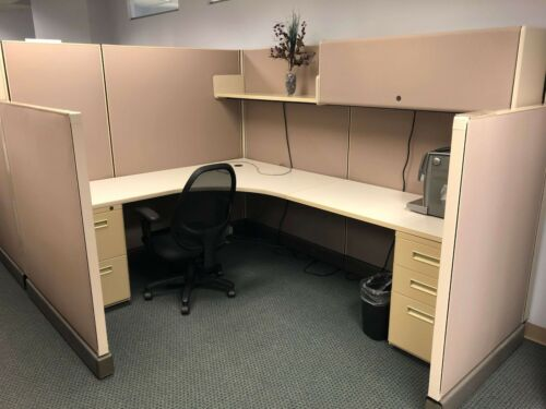 Used Office Cubicles, Herman Miller Ao2 6x8 Cubicles