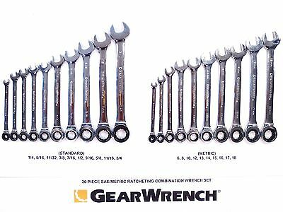 NEW GEARWRENCH 20 PIECE STANDARD SAE & ...