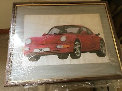 Porsche 911 glazed painting new as painted and still wrapped