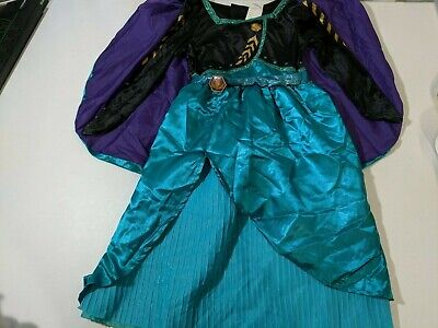 Frozen 2 Halloween Costume Girls Dress Up Queen Anna Detachable Cape Size Small