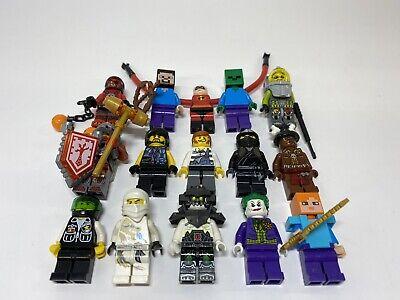 Lego minifigures LOT 15 Figures  Minecraft, Star Wars, Ninjago, Atlantis, + More