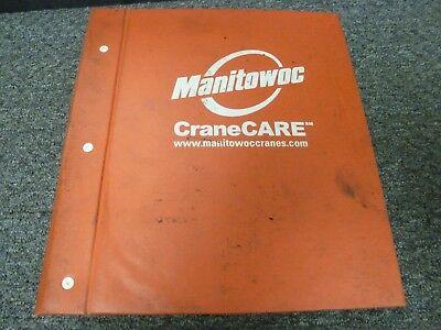 Manitowoc Model 222 W Epic Conversion Crawler Crane Parts Catalog Manual Book