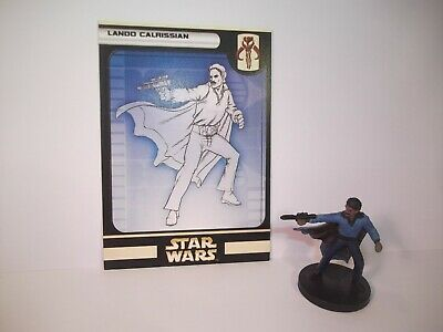 Star Wars Miniatures - Lando calrissian 52/60 + Card - Rare - Rebel Storm