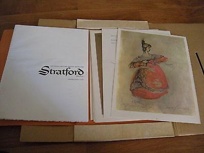 Rare Stratford Festival Costume Designs  20 Sketches  Desmond Heeley
