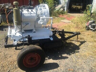 4 Cylinder Wisconsin Vg4d Engine Air Cool With Lindsay 80 Air Compressor