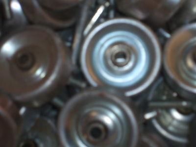 20 Pcs 1.9 Steel Conveyor Belt Wheel Skate Berring 516 Hole For 14 Bolt